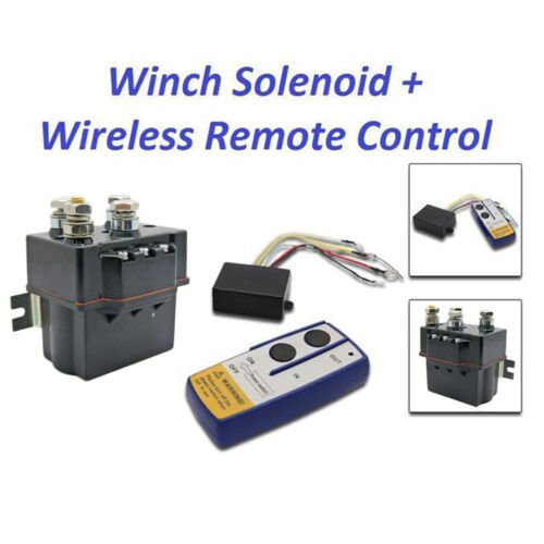 12v Hd Contactor Heavy Duty Solenoid Relay Wireless Remote Control Offroad Winch Ebay