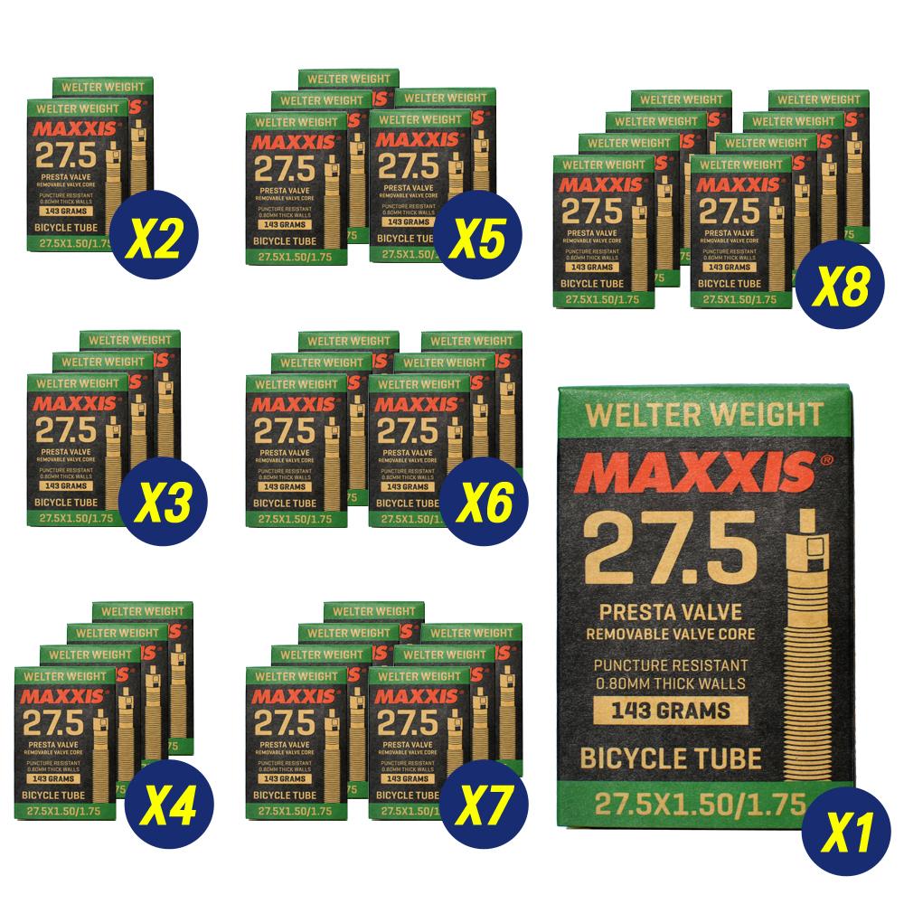 8 Pack Maxxis Welter Weight 27.5 x 1.50-1.75  Bike Inner Tube Presta FV 1Pack