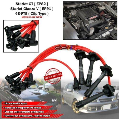 Pour Toyota Starlet//Glanza Turbo EP82 EP91 NGK Iridium Spark Plug x4