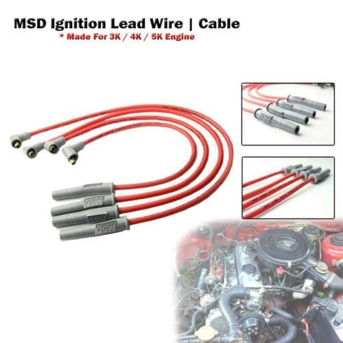 New Set Of Msd Ignition Spark Plug Wire For Corolla Ke30