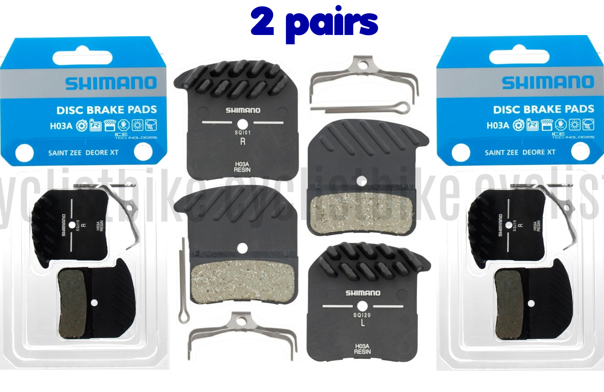 SHIMANO H01A Resin Disc Brake Pad Resin NEW in Card, Shipped from US