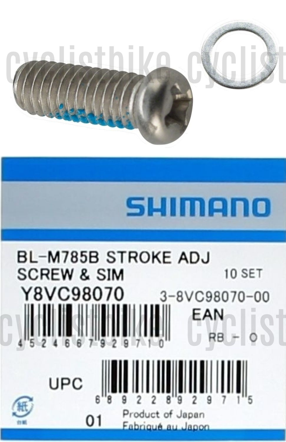 BL-M785 Brake Lever Stroke Adjustment Screw Shimano XT BL-M8000