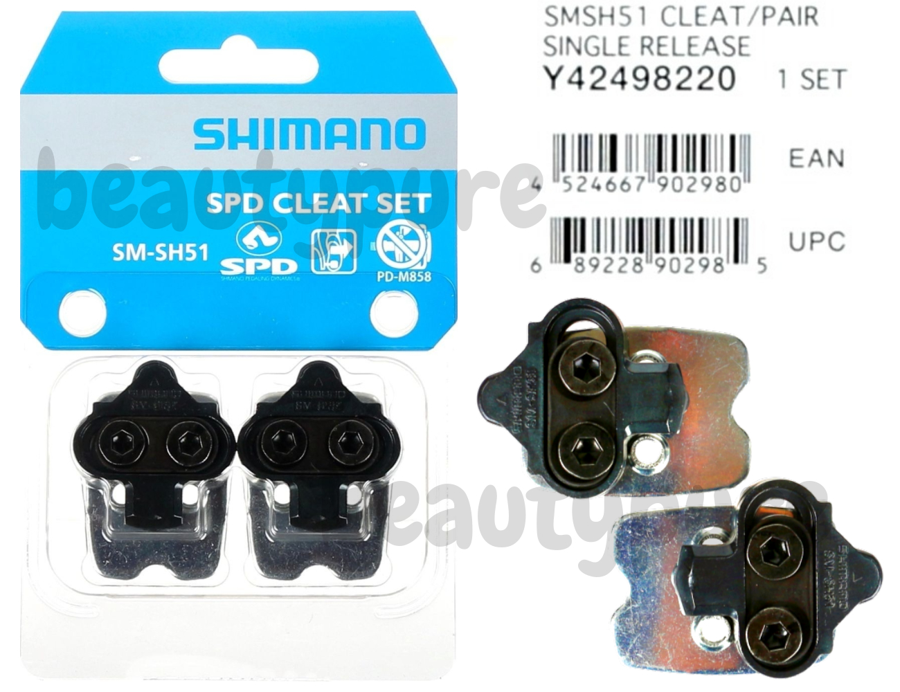 Y42498220 NIB 1Pair Shimano SM-SH51 SPD Pedal Cleat Set for MTB Mountain Bike
