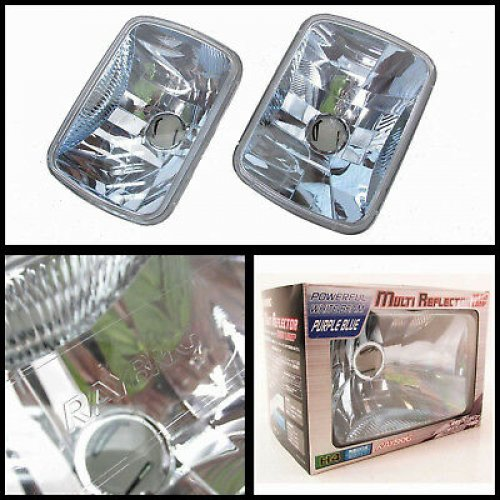 2pcs RAYBRIG Square Headlights Universal 7x6 CLEAR AE86 RX7 S13 KE70 Hilux etc..