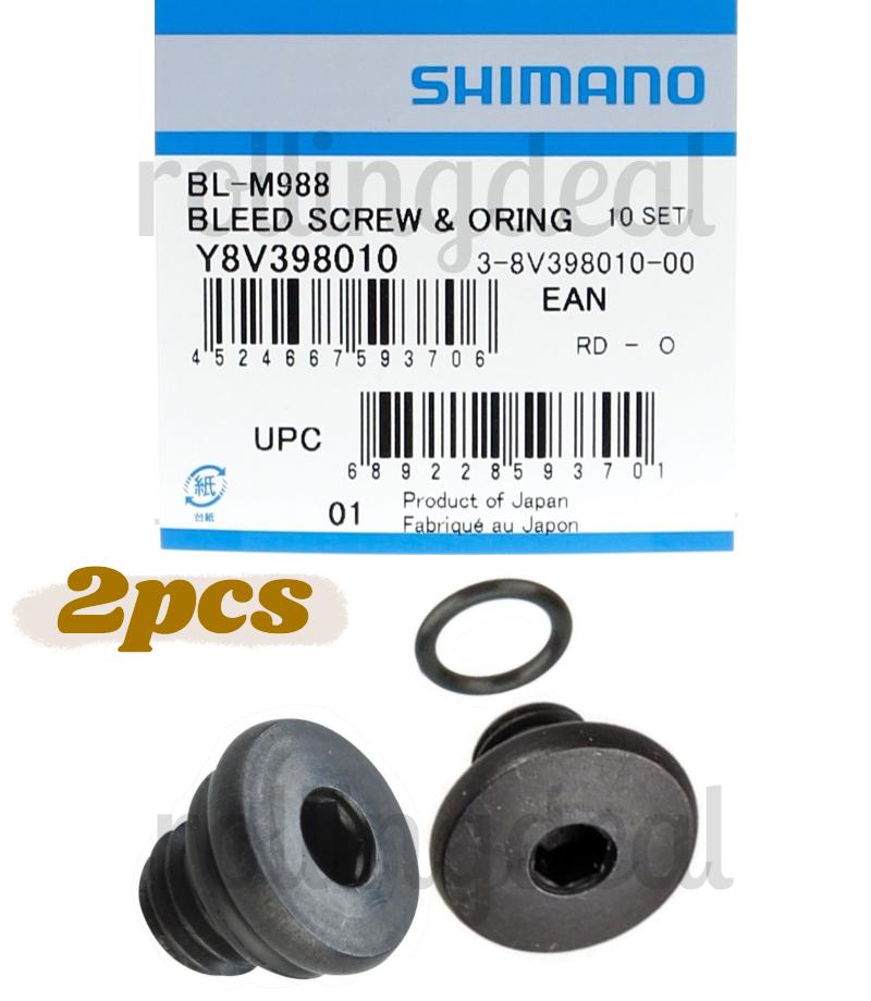 Deore-XT BL-M8000 BL-M985 Shimano Bleed Screw /& O-Ring for XTR Saint BL-M988