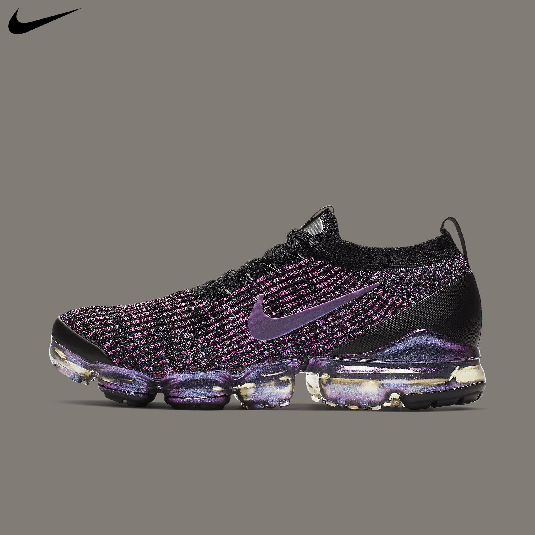 nike vapormax flyknit black purple