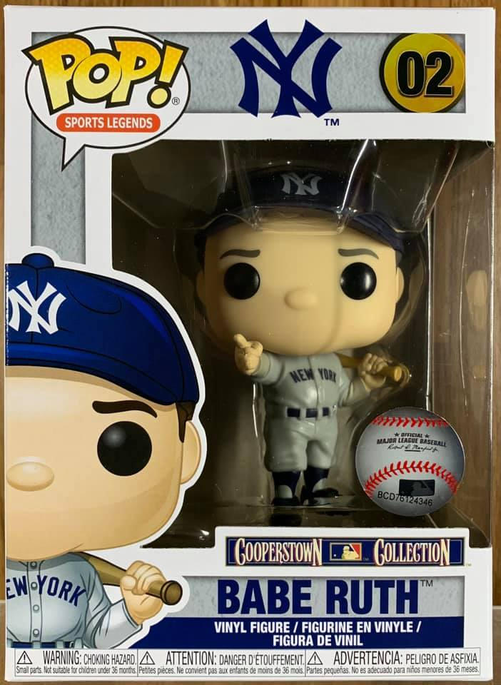 Funko POP New York Yankees: Babe Ruth Figure #02 IN STOCK Sports Legends