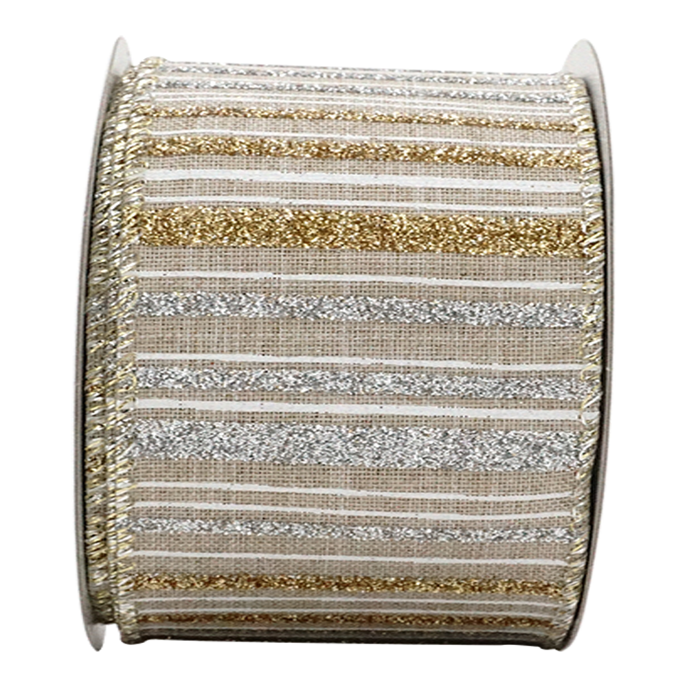 Craft Use 2-1//2in 10YD Music Note Glitter Burlap Ribbon for Gift Floral