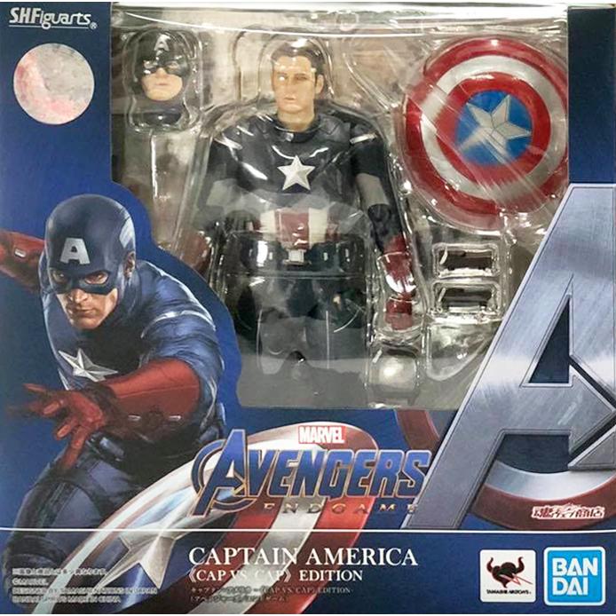US SELLER IN STOCK S.H.Figuarts avengers endgame Captain America Cap Vs Cap