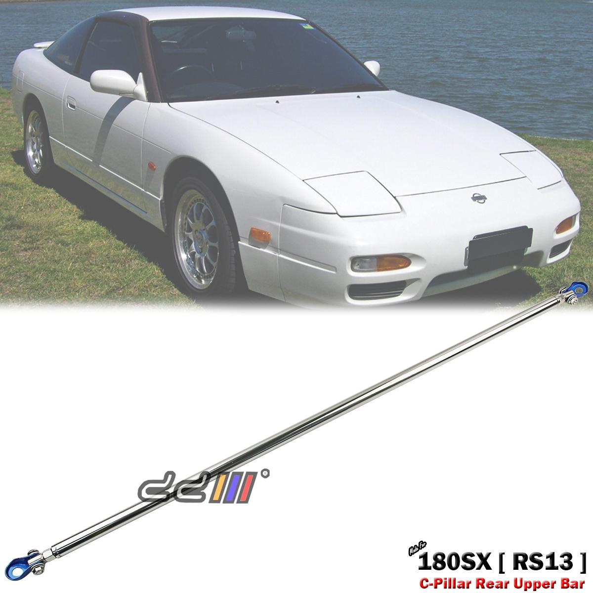For Nissan 240SX S14 Silvia Aluminum Jdm Sport Rear Upper C-Pillar Bar Strut Brace Tower Frame Bar Blue