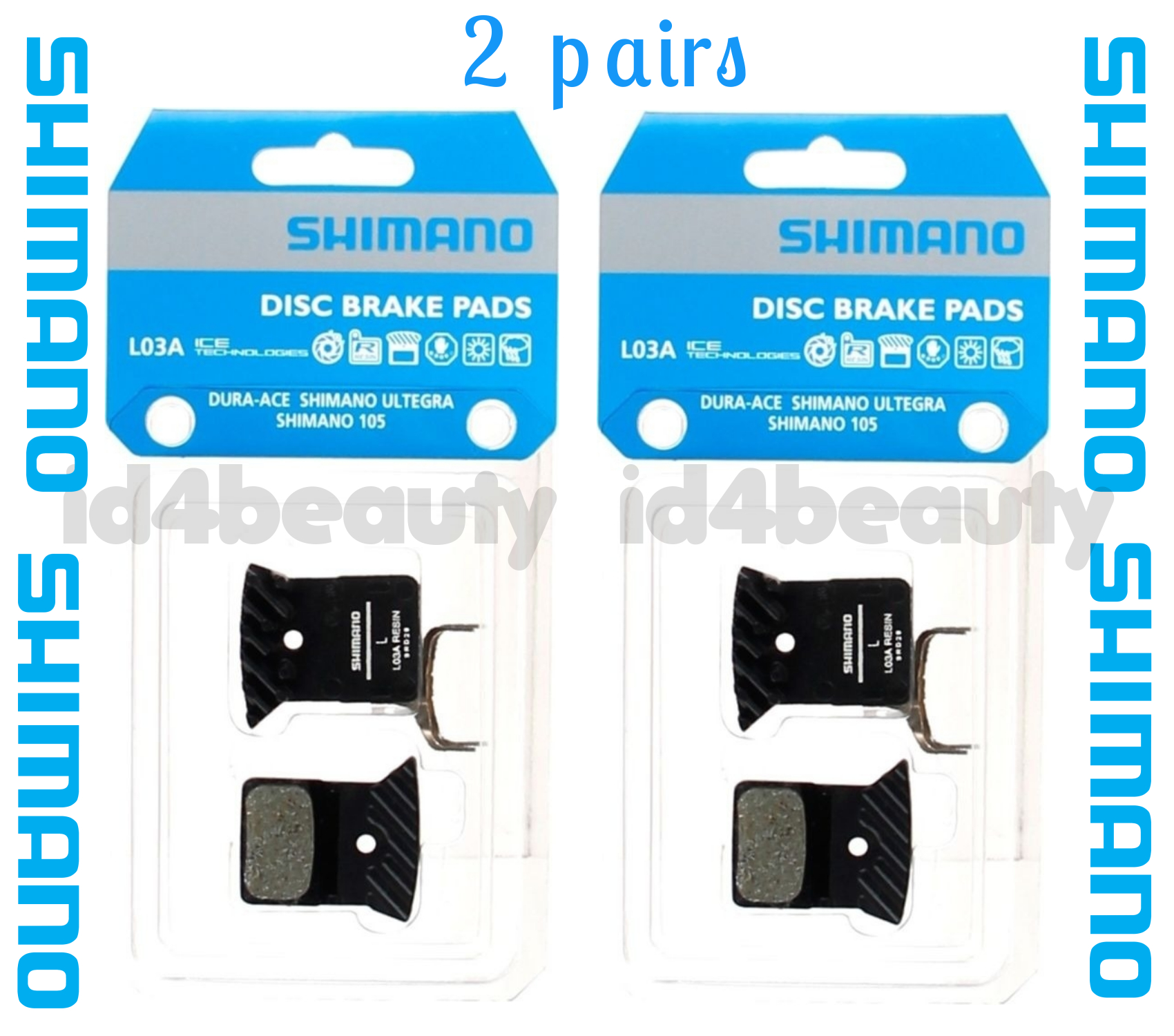 Shimano L03A Resin Road Brake Pads for for R9170 R8070 RS805 RS505 RS405 RS305