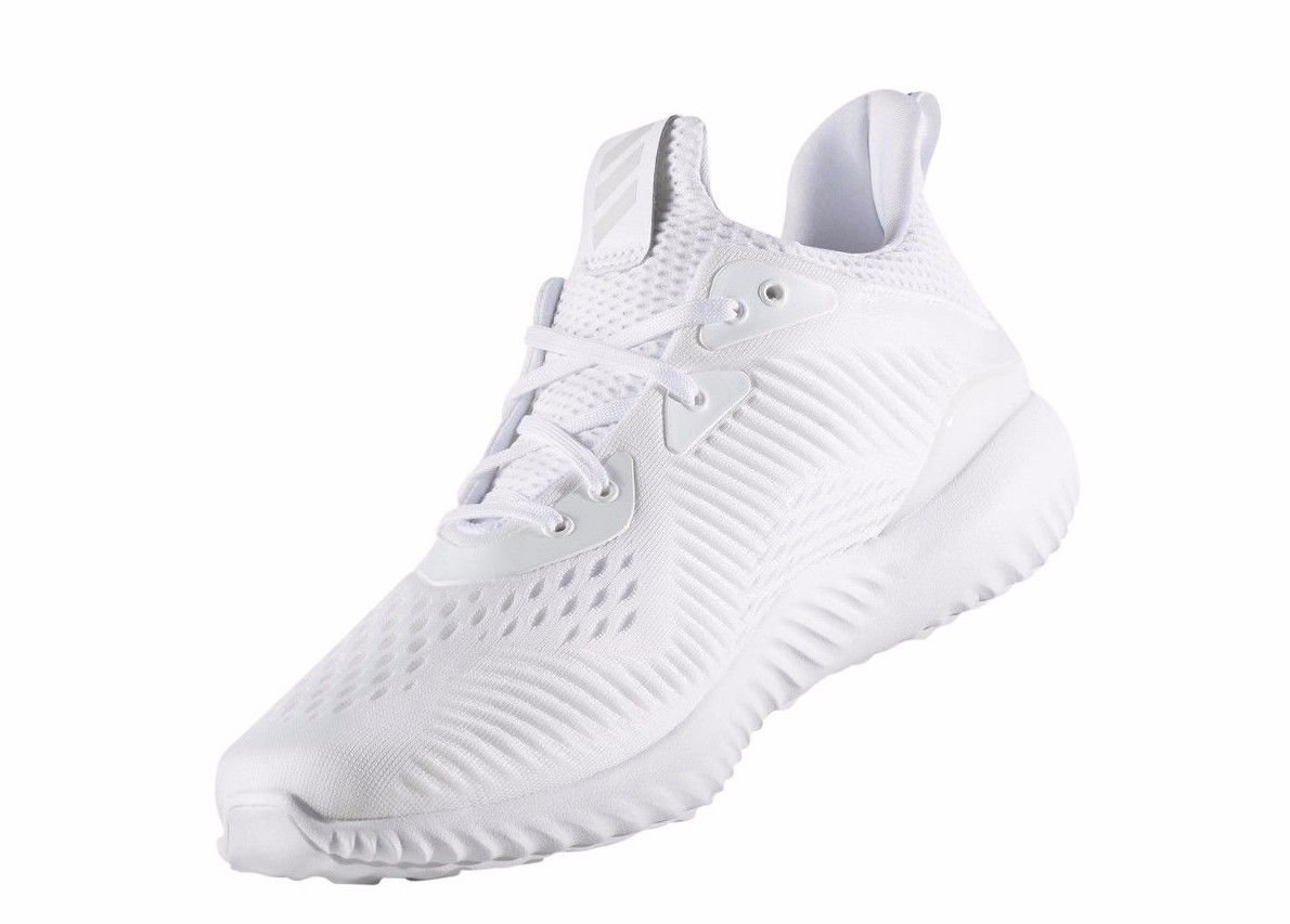 dcb004e0af205 Adidas Performance Mens Alphabounce Em m Running Shoe White Grey One BY4426