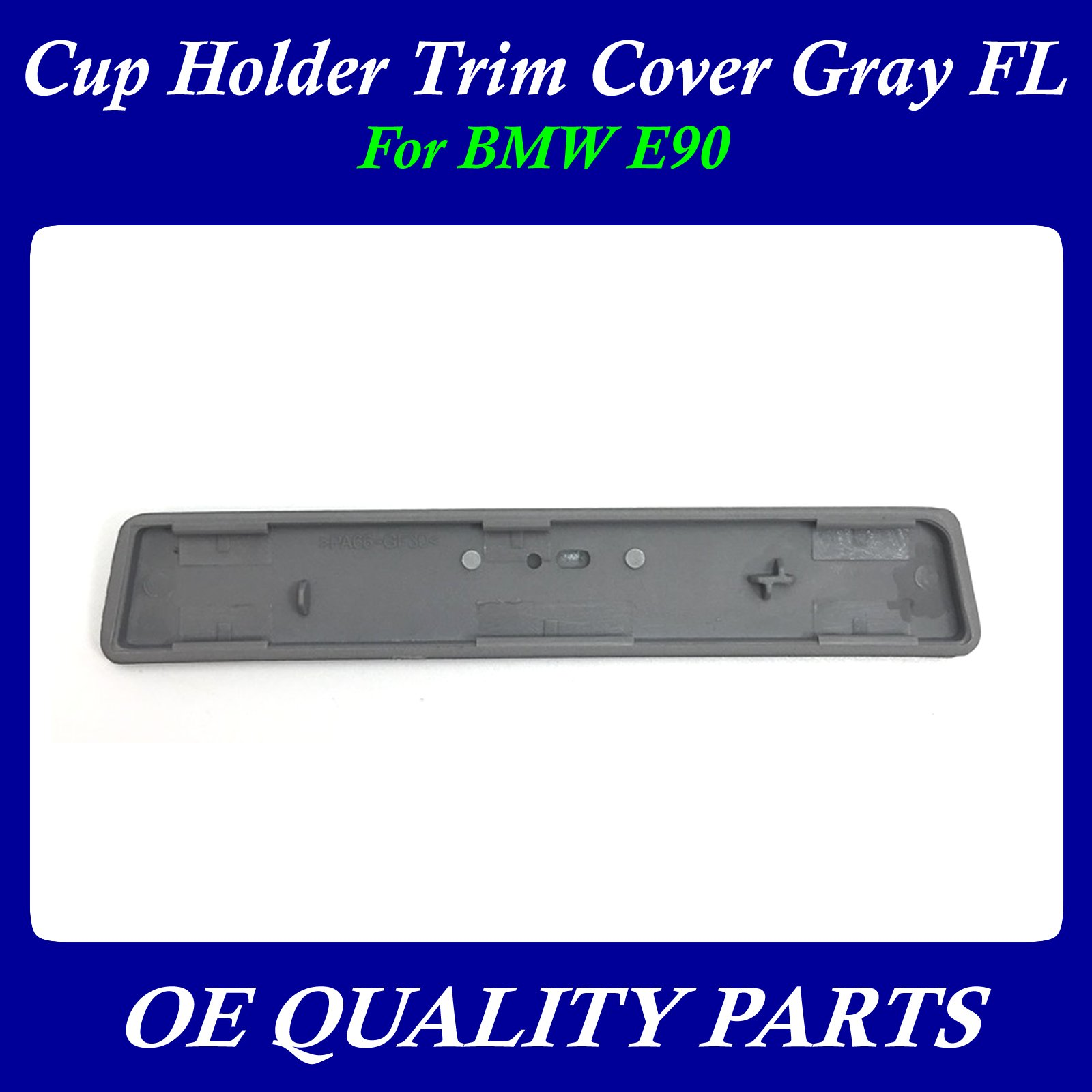 New Genuine BMW Left Driver Side Cup Holder Trim Cover Grey E90 OEM 51459229093