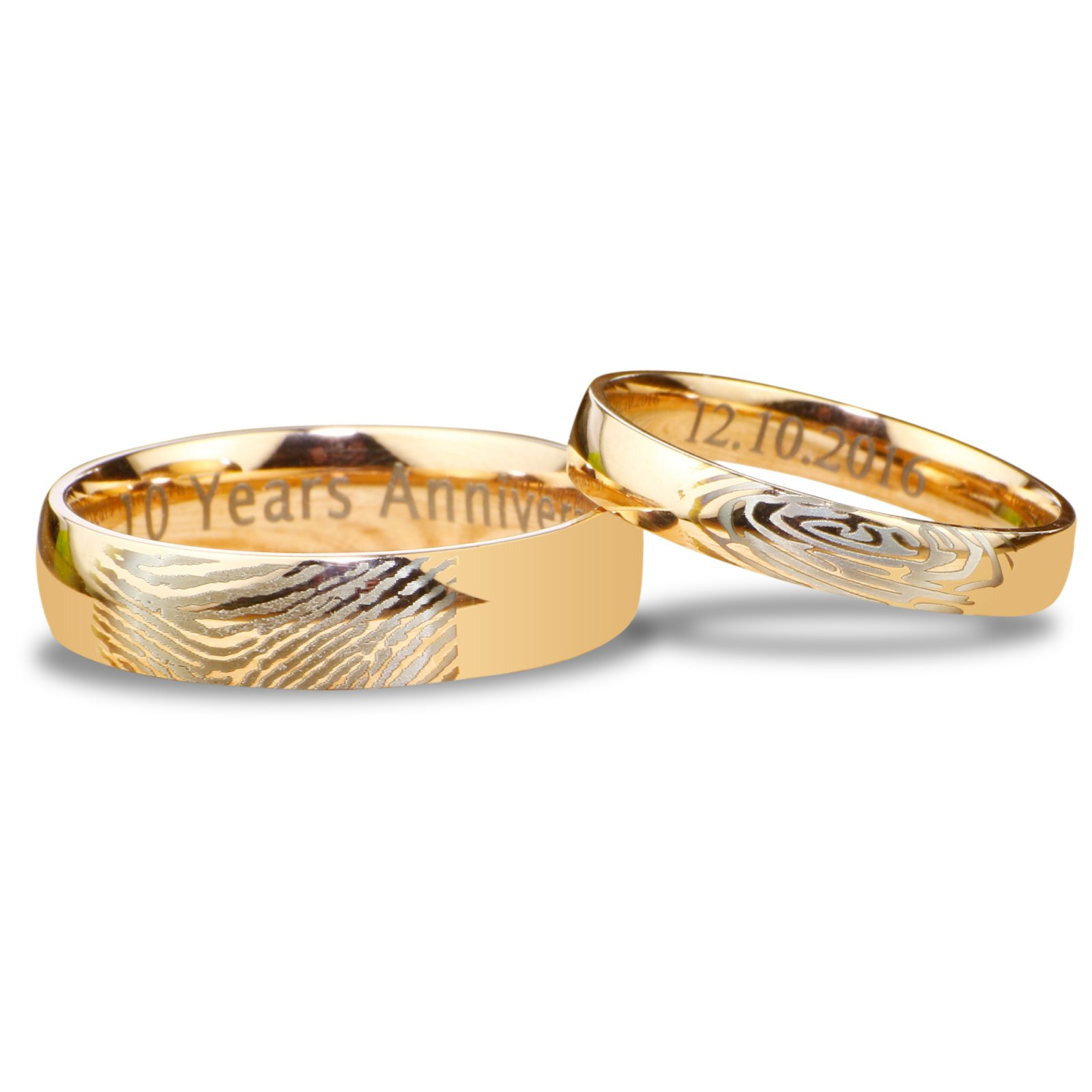 his ring wedding and deer set of hers best fingerprint matching rings antler bands