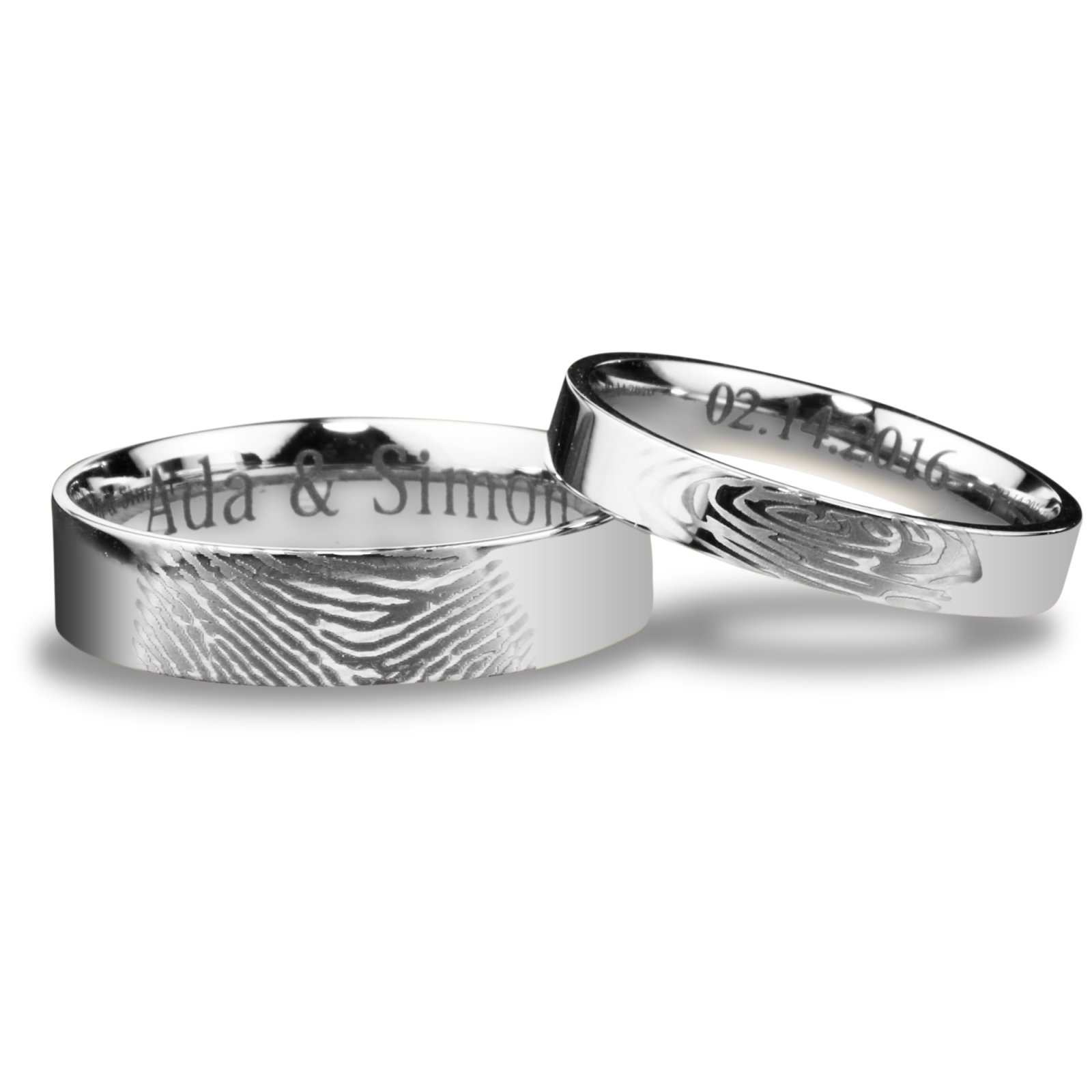 brentampjess womens ring personalized fingerprint finger custom band with wedding awesome mens rings print