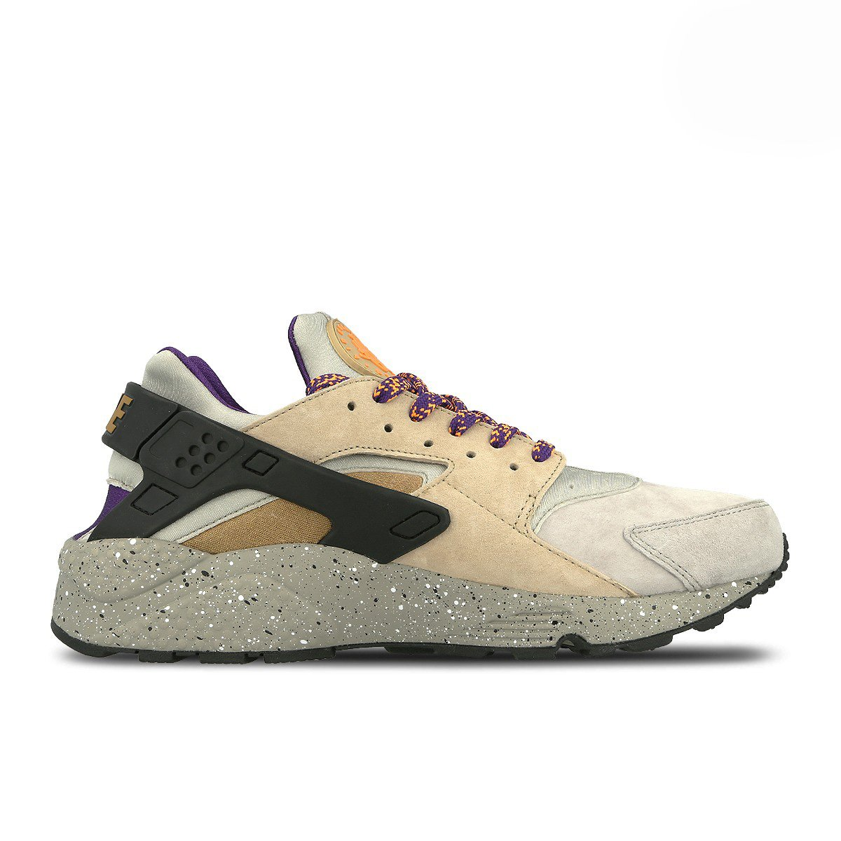542f39dd81bf Nike Air Huarache Run Premium 704830-200 Linen Golden Beige -Black -Court  Purple