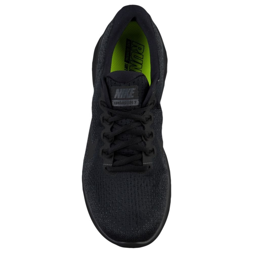 fc94a80baad NIKE LUNARGLIDE 9 BLACK BLACK-ANTHRACITE-VOLT Mens Running Shoes 904715-007  10