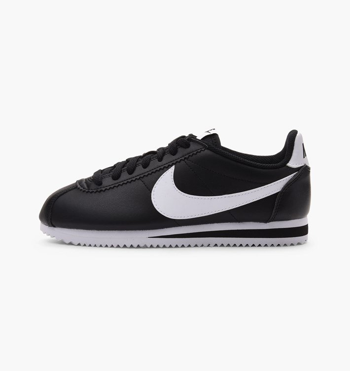 Nike Damen Classic Cortez Leder Ultra Sneaker Schwarz Wei 807471 010 10 039