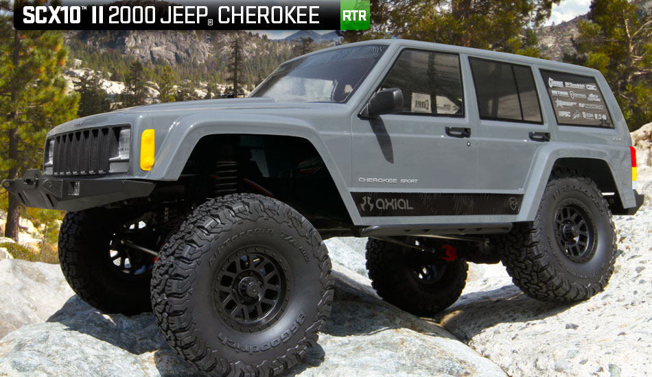 Axial SCX10 II 2000 Jeep Cherokee 1/10th Scale Electric ...