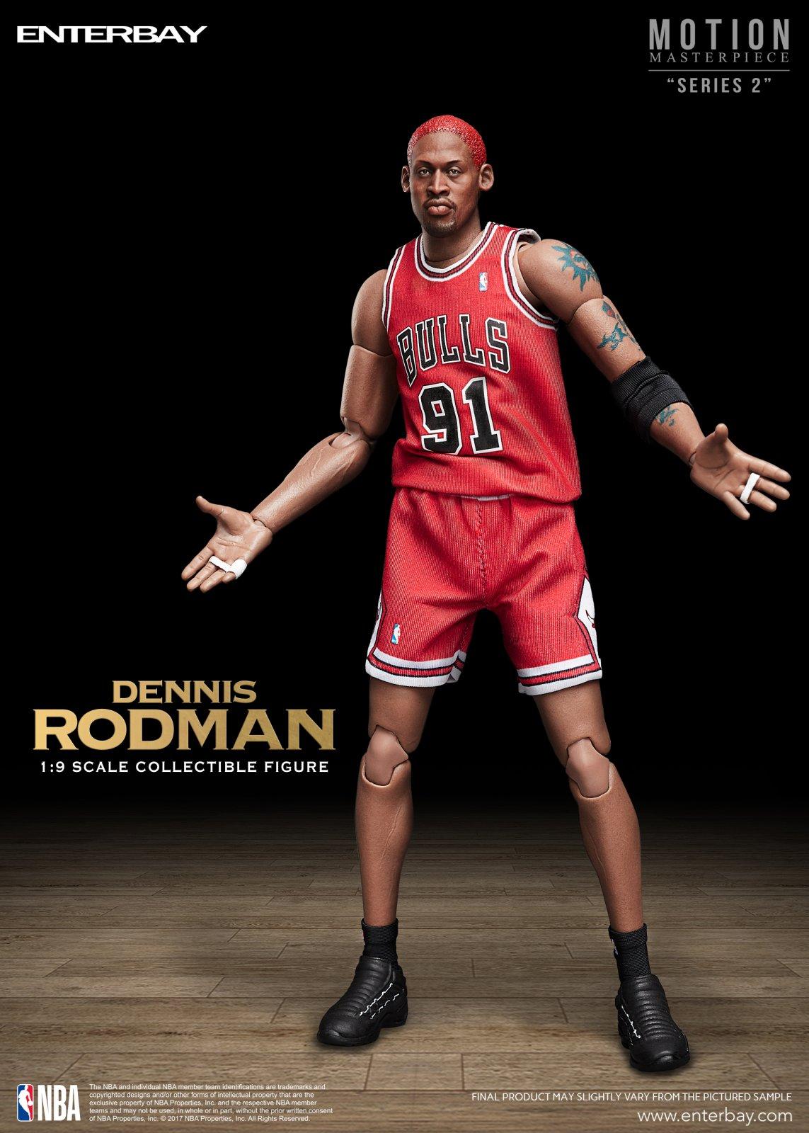 0556296fbeb 1 9 Motion Masterpiece - NBA Collection Dennis Rodman Action Figure (MM- 120 9)