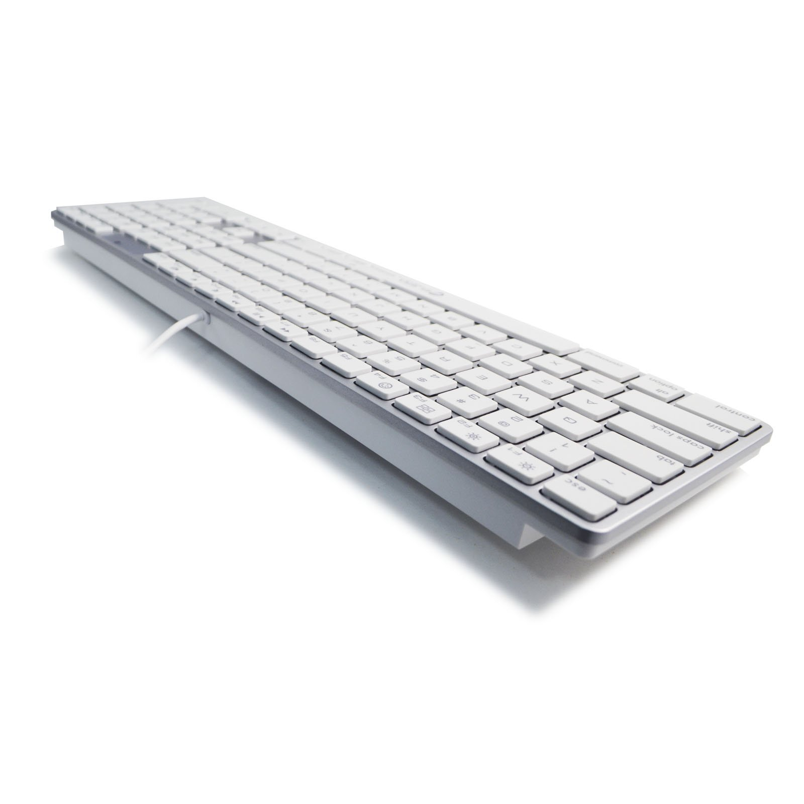 usb wired full size keyboard for mac w numeric keypad kb 801 white 698545366042 ebay. Black Bedroom Furniture Sets. Home Design Ideas