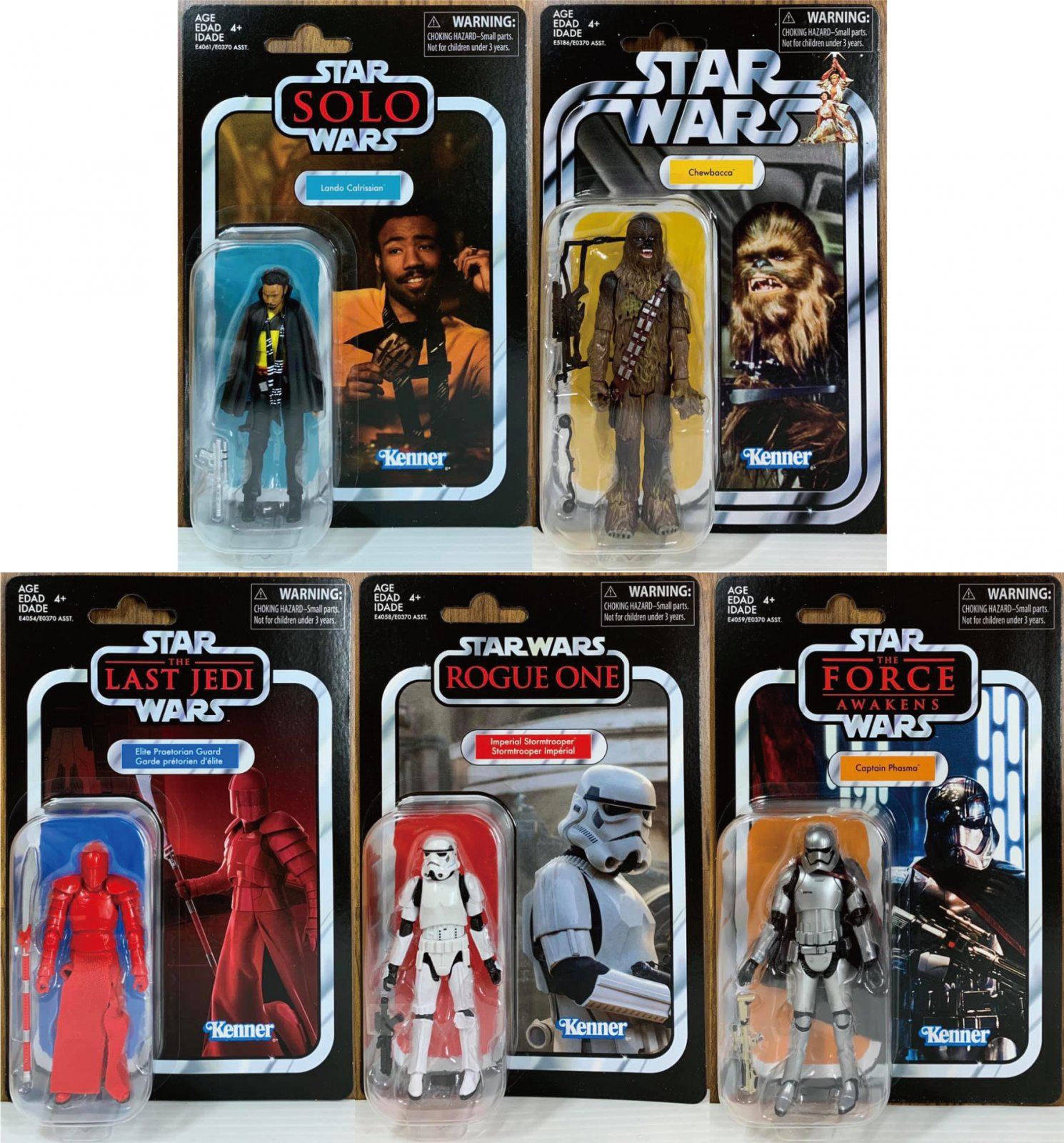 """Hasbro Star Wars Kenner The Vintage Collection 3.75/"""" inch Action Figure set of 4"""