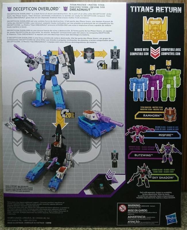 Transformers Titans Return OVERLORD Complete Leader figure