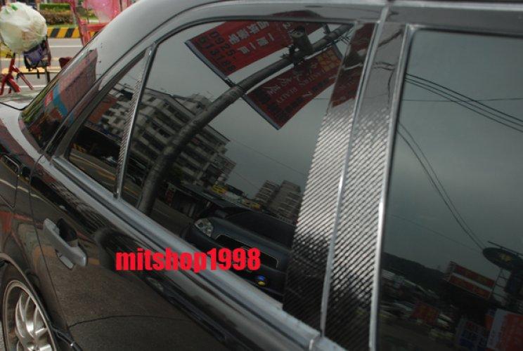 CARBON FIBER DOOR PILLAR PANEL COVERS SET for MERCEDES W221 2006-2013 S-CLASS