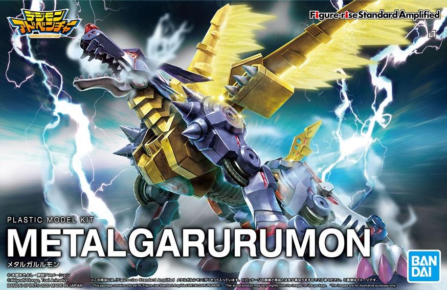 BANDAI Spirits Digimon Metal Garurumon Amplified Figure-Rise Model Kit